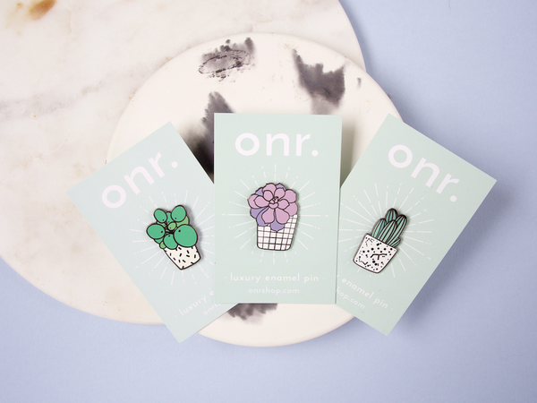 Cactus Club Trio Luxury Enamel Pins
