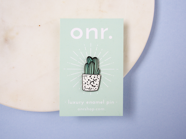 Cute Cactus Luxury Enamel Pin