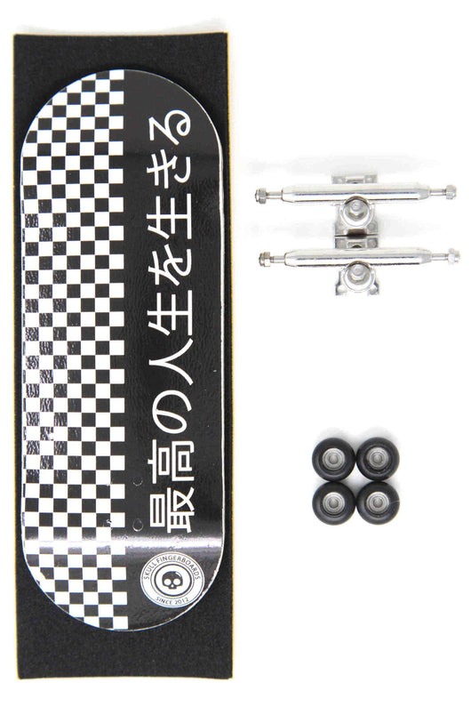 Skull Fingerboards - Japan Black Pro Complete Wooden Fingerboard (34mm)