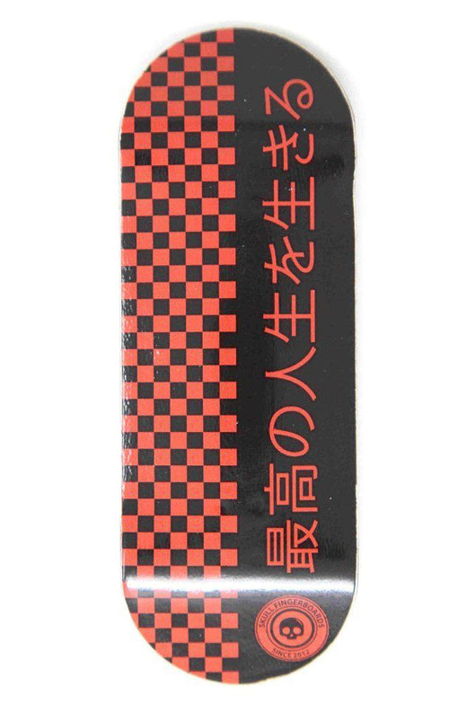 Skull Fingerboards - Japan Red Edition Wooden Fingerboard Graphic Deck (34mm)