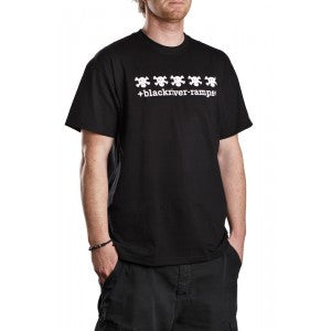 Blackriver Ramps Short Sleeve T.Shirt - 5 Skulls - Black