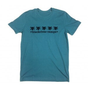 Blackriver Ramps Short Sleeve T.Shirt - 5 Skulls - Blue/Black