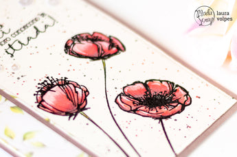 WATERCOLOR CARD FEAT POPPIES AND LET YOUR SOUL BLOOM