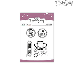 MODASCRAP CLEAR STAMPS MSTC 1-004 - SENTIMENTS