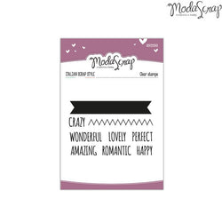 MODASCRAP CLEAR STAMPS MSTC 1-016 - SENTIMENTS