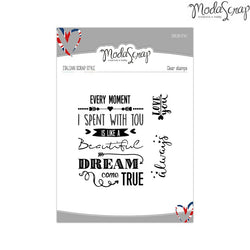 MODASCRAP CLEAR STAMPS MSTC 13-003 - ENGLISH STYLE