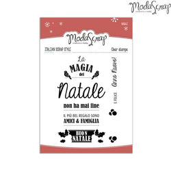 MODASCRAP CLEAR STAMPS MSTC 3-012 - NATALE