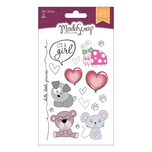 MODASCRAP CLEAR STAMPS MSTC 7-003 - COLOR OF PUPPIES GIRL