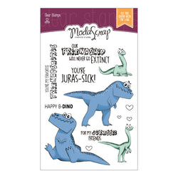 MODASCRAP CLEAR STAMPS MSTC 7-011 - DINO LAND 1
