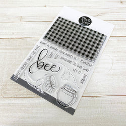 MODASCRAP CLEAR STAMPS - BEE HAPPY