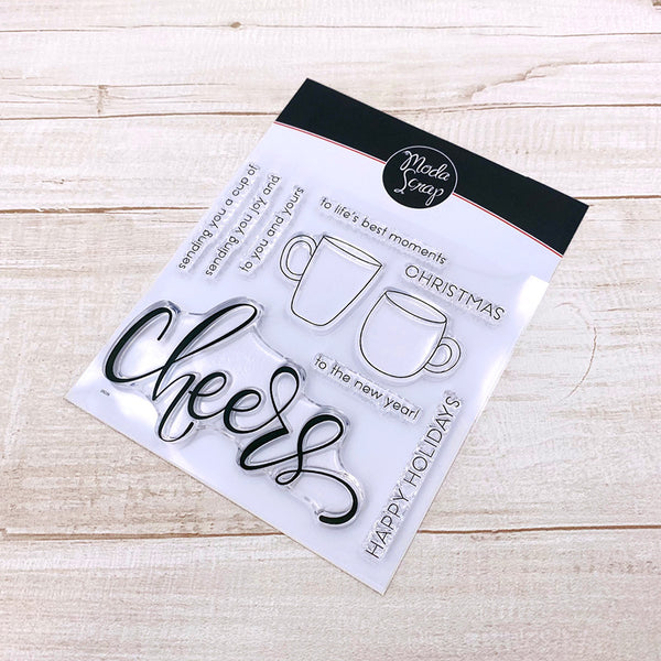 MODASCRAP CLEAR STAMPS - CHEERS