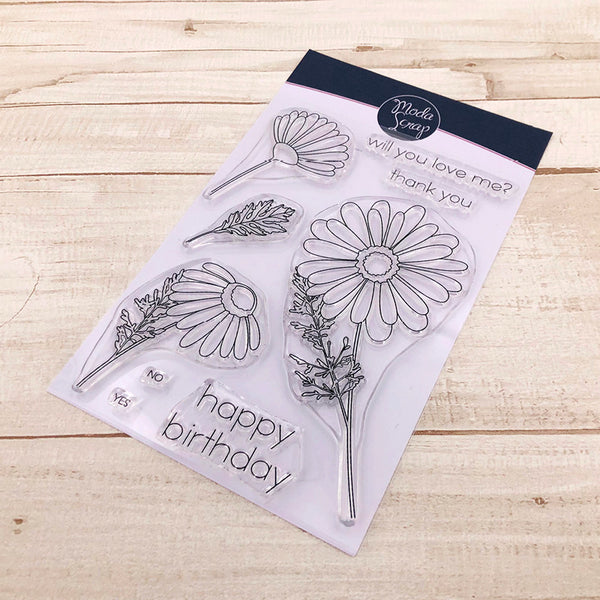 MODASCRAP CLEAR STAMPS - DAISY