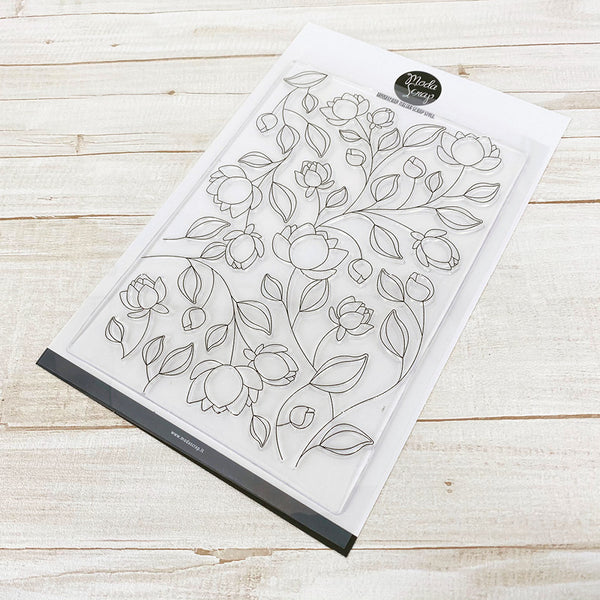 MODASCRAP CLEAR STAMPS - FLOWERS PATTERN