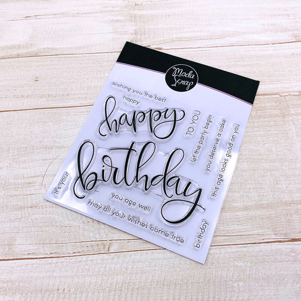 MODASCRAP CLEAR STAMPS - HAPPY BIRTHDAY
