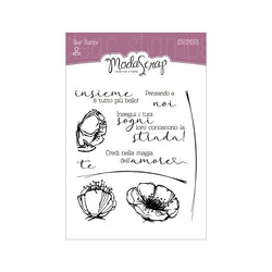 MODASCRAP CLEAR STAMPS MSTC 1-023 - SENTIMENTS
