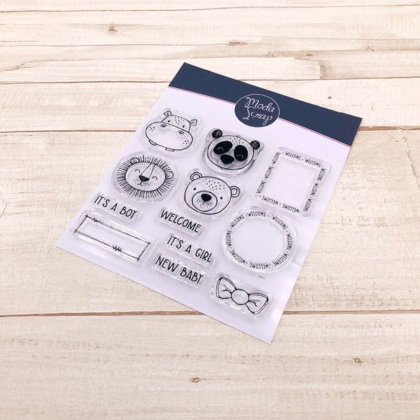 MODASCRAP CLEAR STAMPS - POSTAGE NEW BABY