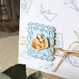 MODASCRAP CLEAR STAMPS - POSTAGE TRAVEL