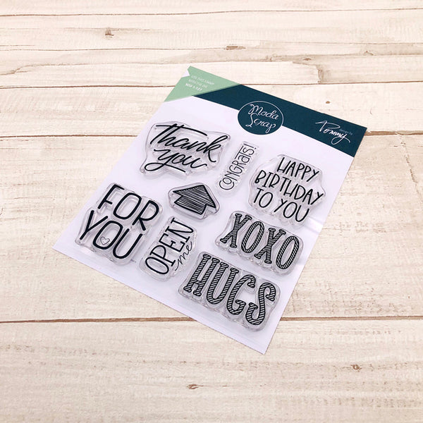 MODASCRAP CLEAR STAMPS - LINEA TOMMY - XOXO