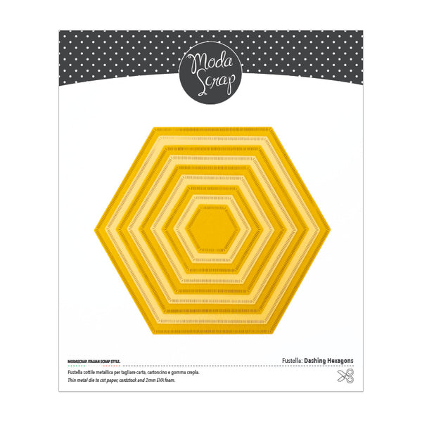 MODASCRAP FUSTELLA - DASHING HEXAGONS