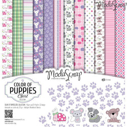 MODASCRAP - PAPER PACK COLOR OF PUPPIES GIRL 12x12