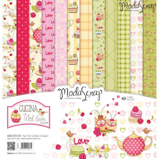 MODASCRAP - PAPER PACK CUCINA WITH LOVE 12x12
