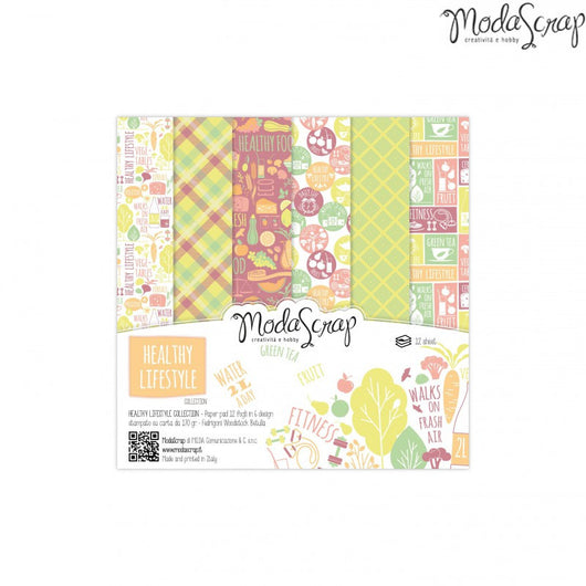 MODASCRAP - PAPER PACK HEALTHY LIFESTYLE 6x6