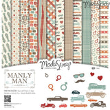 MODASCRAP - PAPER PACK MANLY MAN 12x12""