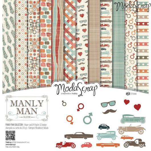 MODASCRAP - PAPER PACK MANLY MAN 12x12