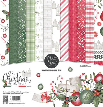 MODASCRAP - PAPER PACK CHRISTMAS ITALIAN STYLE 12x12