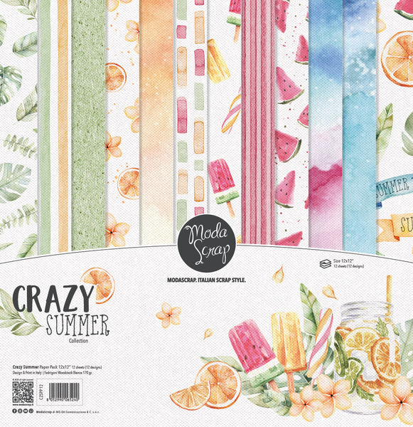 MODASCRAP - PAPER PACK CRAZY SUMMER 12x12