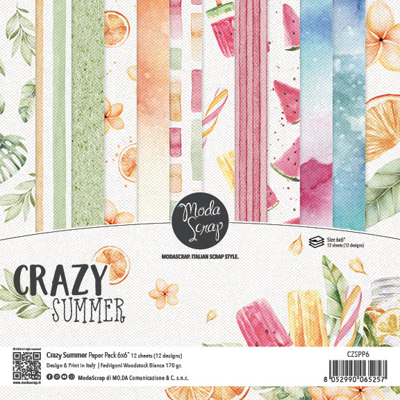MODASCRAP - PAPER PACK CRAZY SUMMER 6x6
