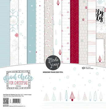MODASCRAP - PAPER PACK GOOD CHEER FOR CHRISTMAS 12x12