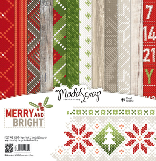 MODASCRAP - PAPER PACK MERRY AND BRIGHT 12x12