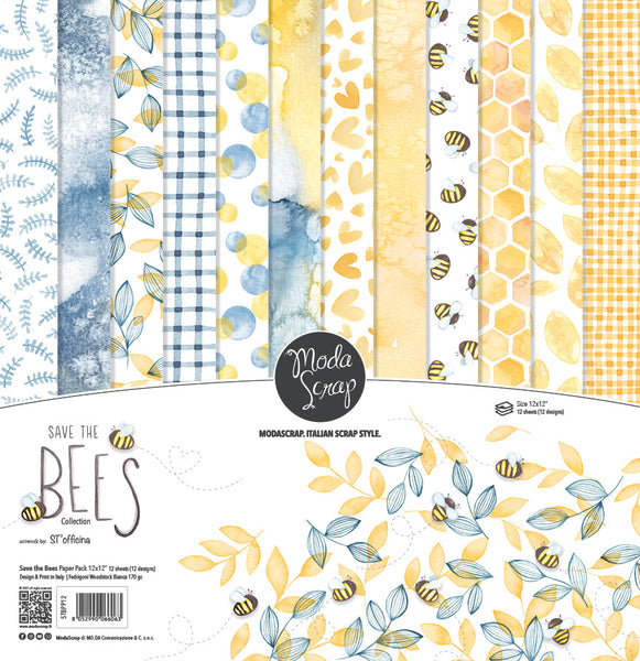 MODASCRAP - PAPER PACK SAVE THE BEES 12x12