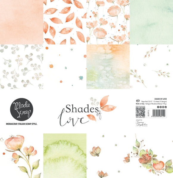 MODASCRAP - PAPER PACK SHADES OF LOVE 12x12