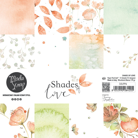MODASCRAP - PAPER PACK SHADES OF LOVE 6x6