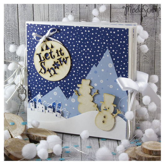 MODASCRAP SCRAP IN A BOX - MINI ALBUM LET IT SNOW