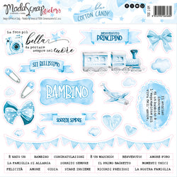 MODASCRAP - STICKERS BLUE COTTON CANDY