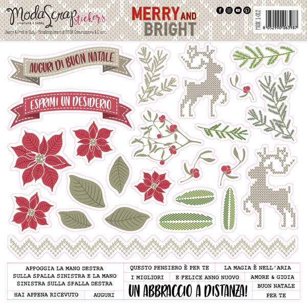 MODASCRAP - STICKERS MERRY AND BRIGHT