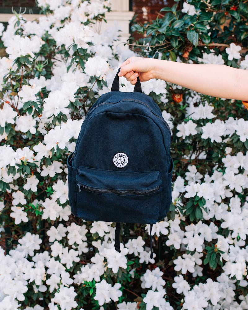 Canvas Backpack - Navy