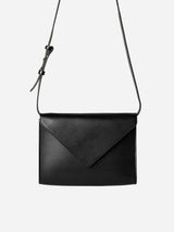 ENVELOPE LEATHER BAG - BLACK