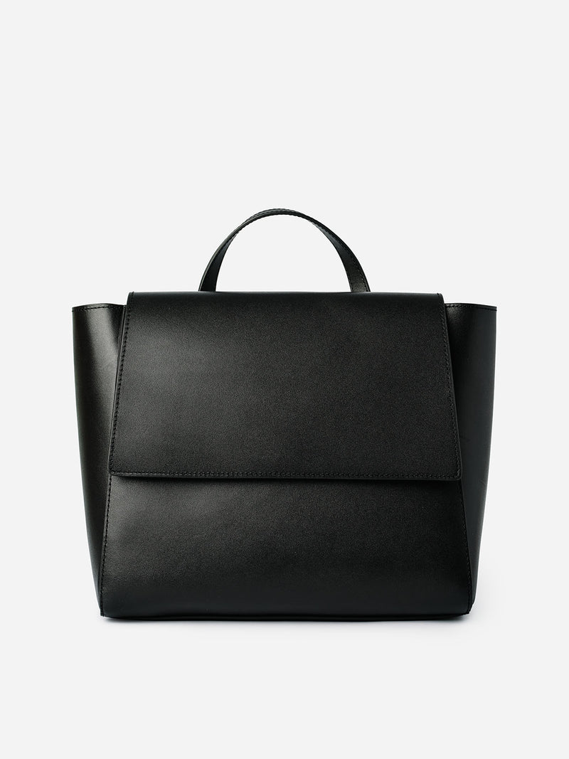 SIMPLE LEATHER BAG - BLACK