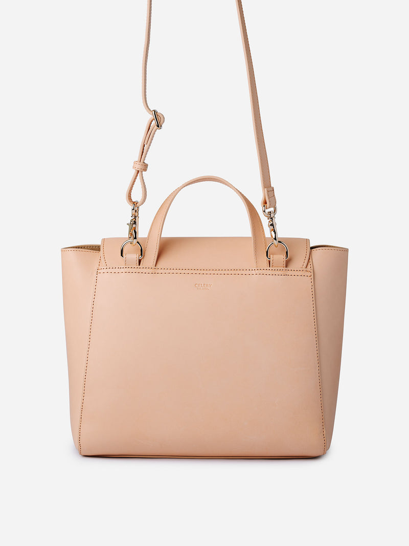 SIMPLE LEATHER BAG - NATURAL
