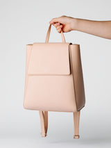 SIMPLE LEATHER BACKPACK - NATURAL