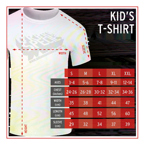 Kid's T-Shirt Size Guide