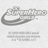 Cool New DC Comics Super Hero Girls Supergirl Logo Drips Official Kid's T-Shirt (Heather Grey) - Urban Species