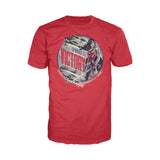 Cool New DC Comics Wonder Woman Circle Victory Official Men's T-shirt (Red) - Urban Species