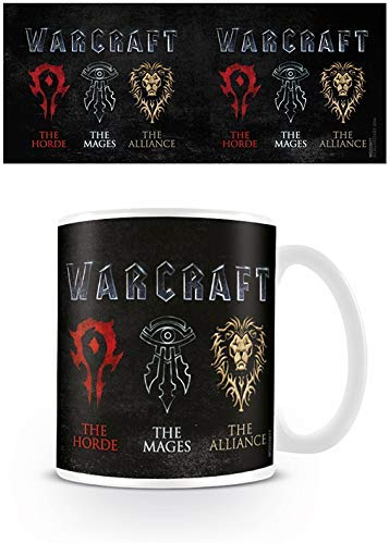 Warcraft Logo Ceramic Mug, Multi-Colour, 7.9 x 11 x 9.3 cm