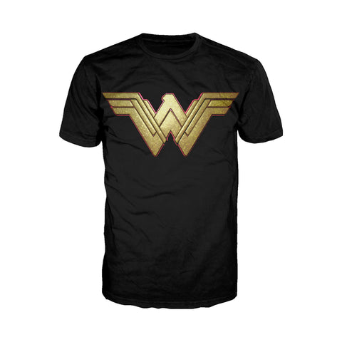 DC Wonder Woman Logo 3D Paisley Official Men's T-shirt (Black) - Urban Species Mens Short Sleeved T-Shirt