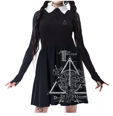 Harry Potter Dark Dress Ladies (Black) - Urban Species Ladies Dress
